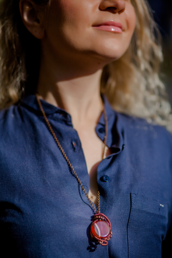 handmade cooper necklaces