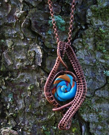 Handmade Copper Wire Wrapped Pendant