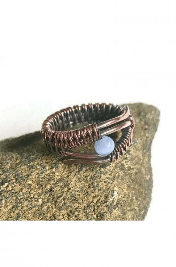 Handmade Copper Wire Wrapped Ring