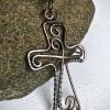 Handmade Copper Wirework Cross Pendant