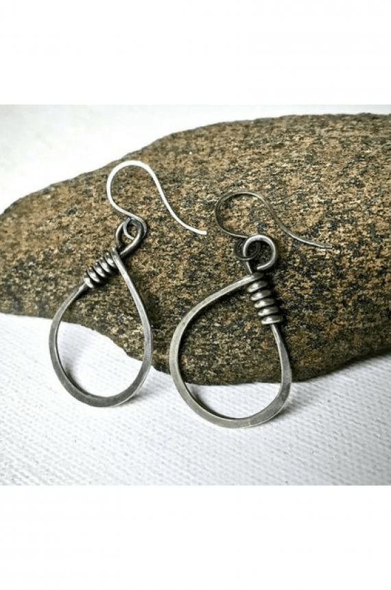 Handmade Minimalist Sterling Silver Earrings