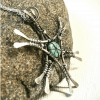 Handmade Silver Wire Wrapped Pendant