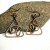 Handmade metal wire earrings