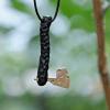 Handmade wooden pendant Axe