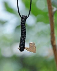 Handmade wooden pendant Axe (2)