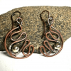 Handmade Mixed Metal Wirework Earrings