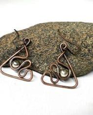 Handmade metal wire earrings