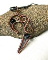 Handamde Tribal Copper Wire Pendant