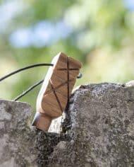 Handmade wooden pendant Pentagram