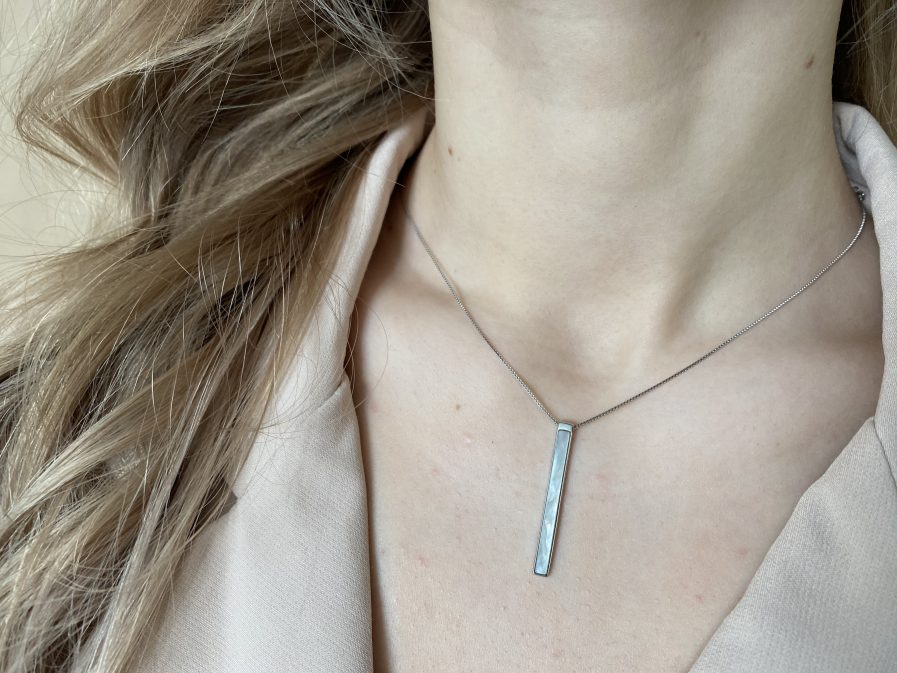 925 Silver Shell Geometric Minimalist Necklace