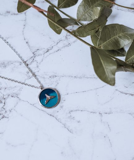 925 Sterling Silver Enamel Fish Minimalist Necklace