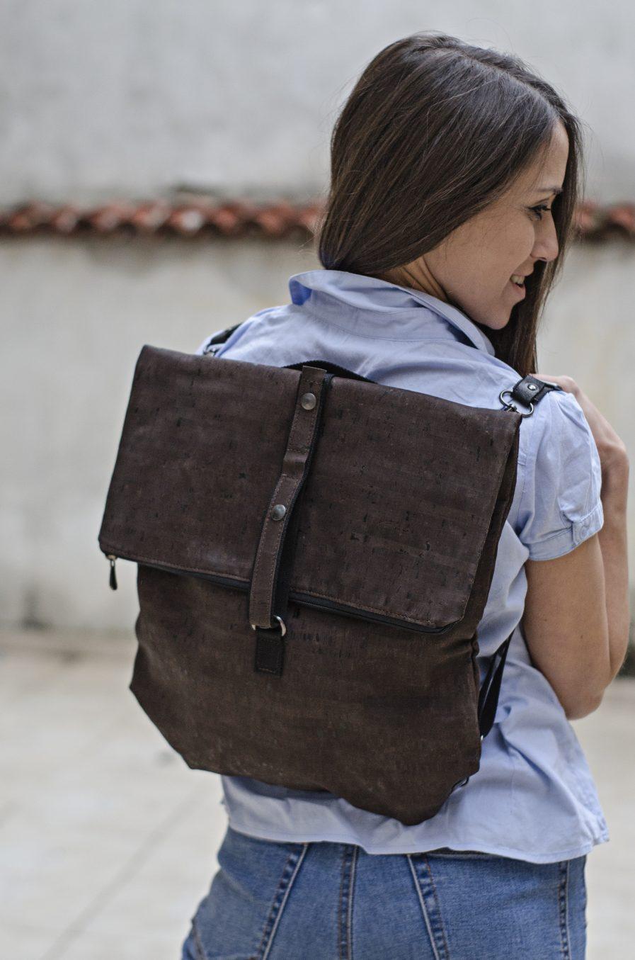 Backpack dark brown