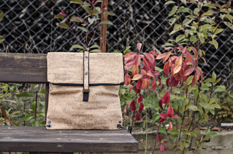 faux leather cork backpack