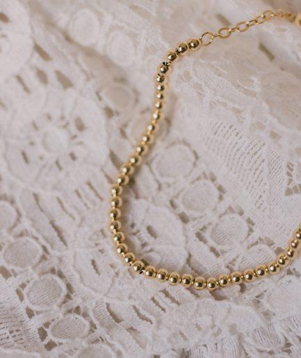 18K Bead Bracelet