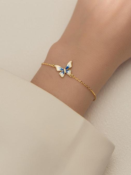 Butterfly Minimalist Link Bracelet