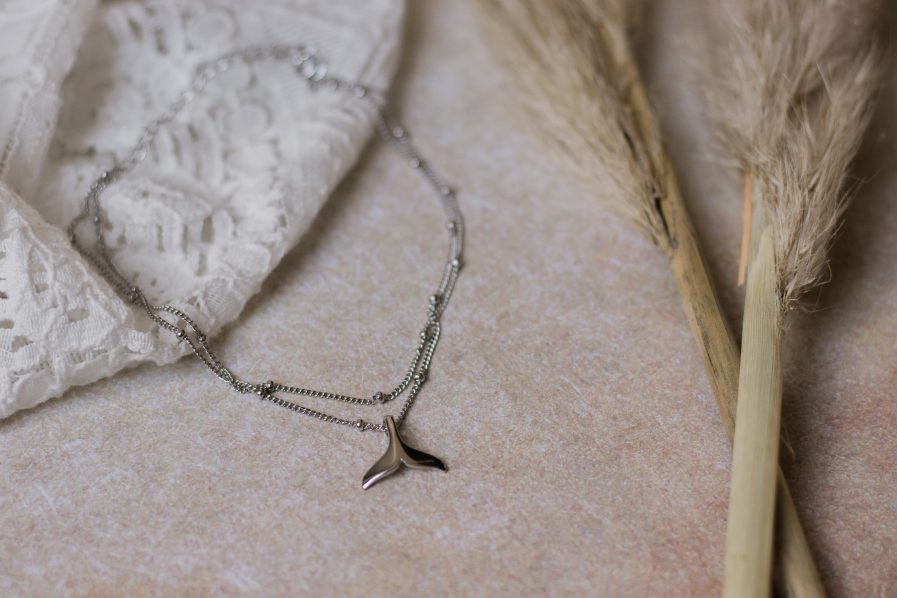 Stering silver fishtail Anklet