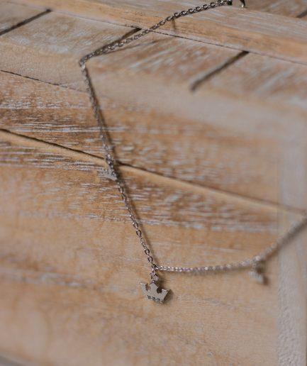 Sterling Silver Rhinestone Anklet