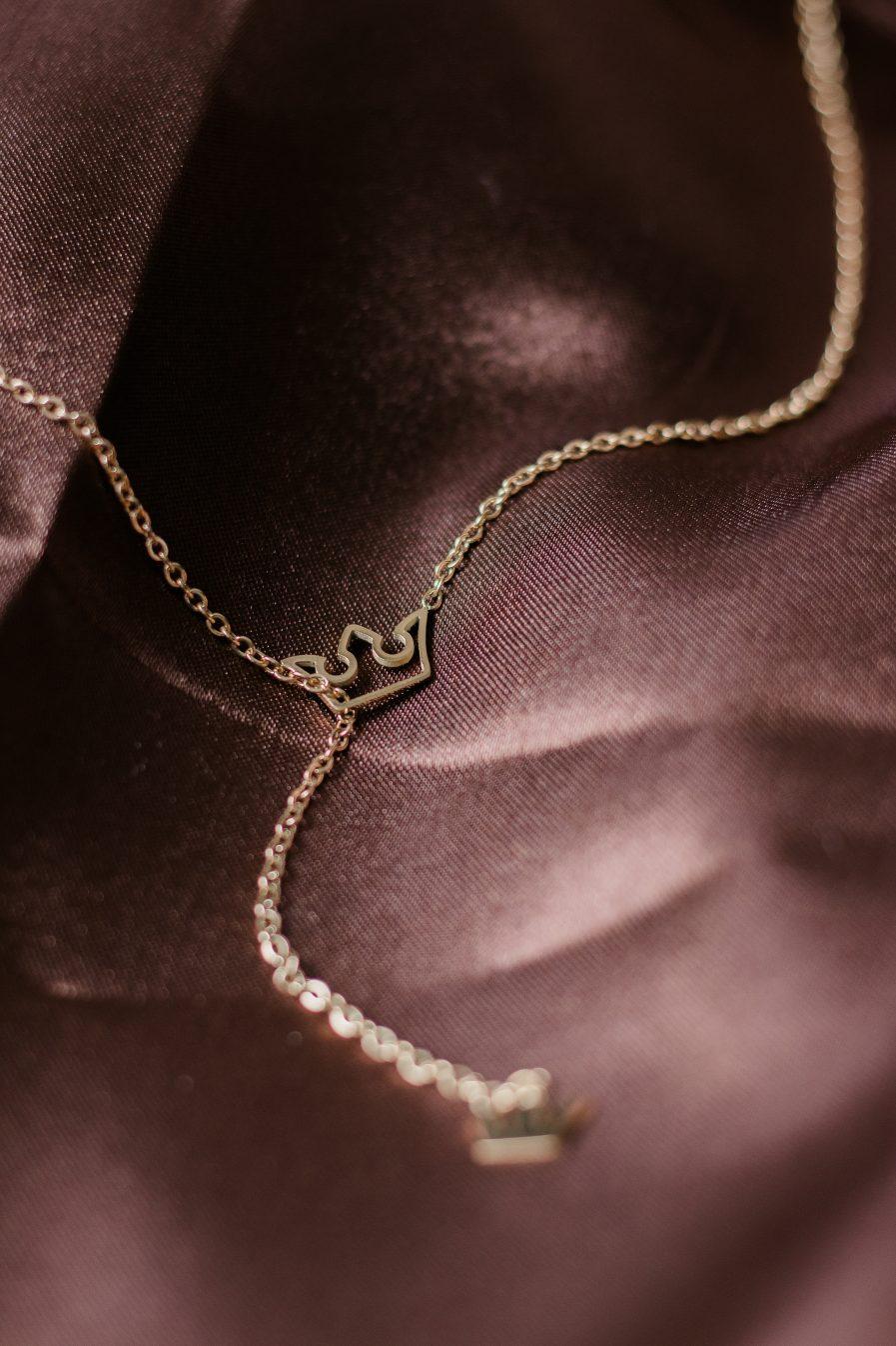 Titanium Crown Lariat Necklace